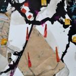 Baku - Tusche, collage - 74 x 53 cm