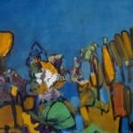 Blaue Landschaft - Acryl - 60 x 60 cm