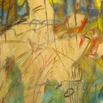 Jardin - Aquarell, Kreide - 35 x 28 cm