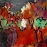 Rote Landschaft - Acryl - 60 x 60 cm