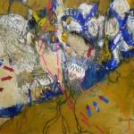 Seidenstrasse - Acryl, Papier - 86 x 60 cm