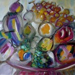 Teller mit Obst - Öl - 50 x 60 cm - coll. part.